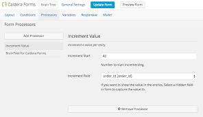 Incremental Value Processor WordPress Form Builder Caldera Forms Gorgeous Increment Form