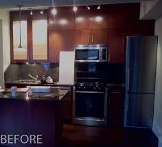 Dark Maple Kitchen Cabinets Dark Stained Shaker Cabinets Upper West Side New York City Ny