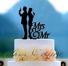 Sex Spy Couple Acrylic Wedding Cake Topper Bride And Groom Cake