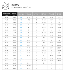 Average Woman S Ring Size Chart Mens Wedding Bands Ring Sizing Chart By Embr