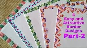 Handmade Easy Border Design For Chart Paper