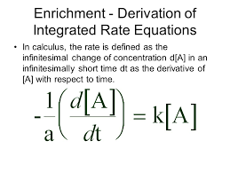 enrichment derivation of integrated rate equations for a first order reaction the rate 2 enrichment derivation