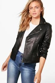 boohoo jade vegan leather biker jacket