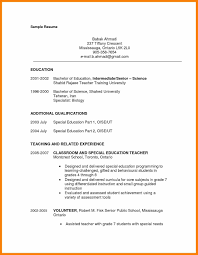 Special Education Paraprofessional Resume For Free Paraprofessional