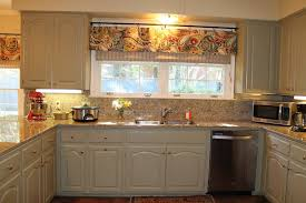 Valance Kitchen Curtains Nice Contemporary Kitchen Curtains Ideas With Ascot Valance