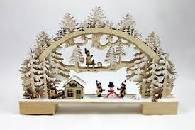 Details Zu Schwibbogen Kinder G480584 Holz Weihnachten Fensterdeko Led Winter Wald