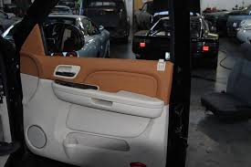 cadillac escalade 2015 interior customized. this project we have customized the interior on cadillac escalade door panels dash and headliner customer asked for a more european look 2015