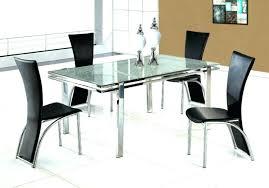 modern glass dining table set dazzling modern glass dining table with extension image of extendable set