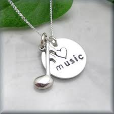 Love <b>Music Note Necklace</b> Sterling Silver <b>Jewelry</b> Music Lover ...