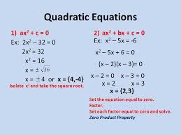 quadratic equations 1 ax 2 c 0 ex 2x 2 32