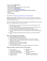 Visual Merchandiser Resume Sales Merchandiser Resume Resume For Study 100