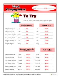 Verb Conjugation Worksheet: To Play | Grammar Worksheets