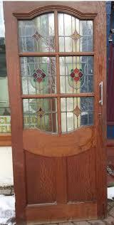 regency antiques item fantastic solid oak stainedglass door
