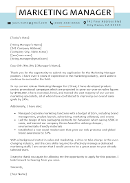 Cover Letter Sample For Supervisor Position Marketing Manager Cover Letter Sample Resume Genius