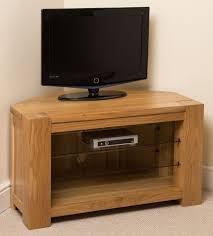 Solid Light Oak Corner Tv Unit Details About Kuba Solid Oak Wood Glass Corner Tv Hi Fi