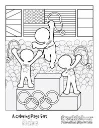 Small Picture FREE Personalized Olympic Coloring Sheet Olympics Children s