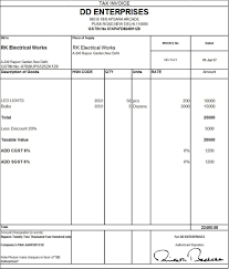 Export Invoice Format In Excel Free Download