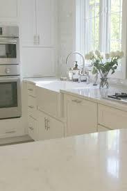 white kitchen with viatera minuet quartz countertops hello lovely studio
