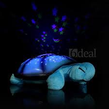 Night Stars Bedroom Lamp Turtle Music Night Light Sky Projector Lamp Baby Bedroom Sleep Toy