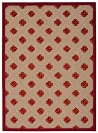 aloha red indoor outdoor rug rugs 5x7