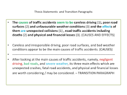 essay about car accident causes