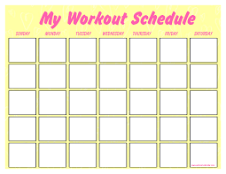 work out schedule templates free printable blank workout schedule templates at