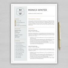 How To Create A Modern Resume In Word Professional And Modern Resume Template For Word Creative