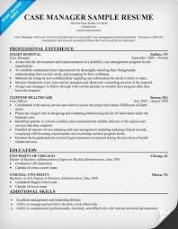 Case Manager Resume Sample