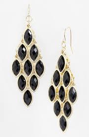 lyst tasha stone chandelier earrings in metallic