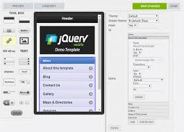 Jquery Mobile Template Create Your Own Mobile App Editor