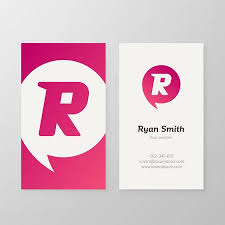 Personal Business Letter Stunning Modern Letter R In Speech Bubble Business Card Template Vector
