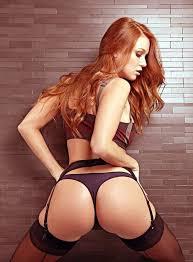 Pics redhead women model garter belt