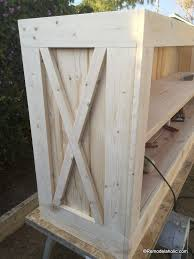 build a farmhouse style planked x tv console or sideboard remodelaholic 23