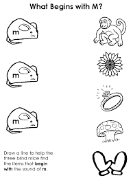 Draw a Line - Beginning Consonant Worksheets