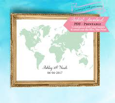 world map guest book template wedding sign printable sign printable wedding sign guestbook sign print instant pdf diy