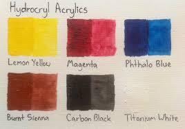Atelier Acrylic Colour Chart Acrylics Artdragon86