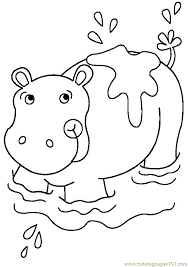 Small Picture Hippo Coloring Page Free Hippopotamus Coloring Pages