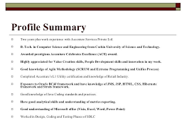 Sample Profile Summary For Resume Photography What Is Profile