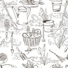 Icona Della Linea Di Giardinaggio Disegno Di Doodle Set Scaricare