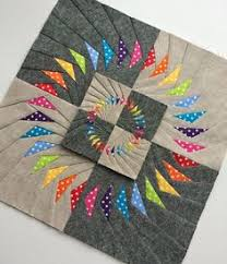 Circle of geese block tutorial: I like these going around & around ... & Flying Geese is not one of my favorite patterns, but this is interesting.  Double Circle of Flying Geese Block Adamdwight.com