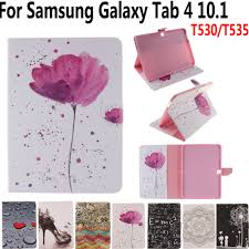 Tablet Cover Design Us 11 01 23 Off Tablet Cover Case For Samsung Galaxy Tab4 Tab 4 10 1 T530 T531 T535 Print Folio Smart Case With Stylus Pen For Samsung Tab4 10 1 In