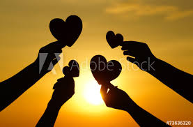 hearts silhouette hands holding hearts silhouette buy this stock photo and explore
