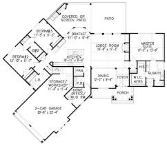 corner lot house plans. Plan 15888GE: Hip-Roofed Ranch Home Corner Lot House Plans