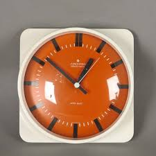 vintage glass and plastic wall clock
