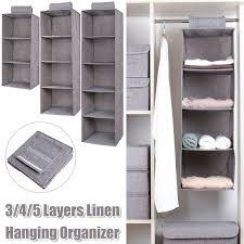 image of hanging closet organizer with drawers yhome aldo hanging closet organizer with drawers grey