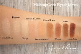 makeupgeek eyeshadows makeup geek swatches