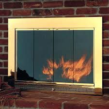 wood fireplace glass stove door cleaning
