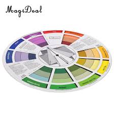 Us 3 78 24 Off Magideal Round Color Mixing Guide Wheel For Paint Matching Pigment Blending Palette Chart Art Salon Tool Microblading In Party Diy