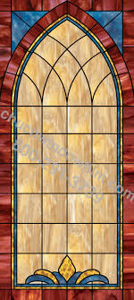 church stained glass decorative window design in 10 in 10 plain