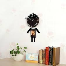 cartoon wall clock pictures characters of wooden craft clocks recycled art nursery wall decal home artwork wall arts wall clock